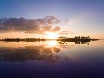 Lever de soleil de Kulhi de ville d'Addu Images libres de droits