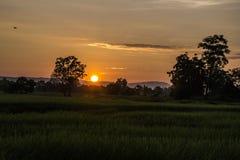 Lever de soleil léger Images libres de droits