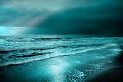 Lever de soleil la Mer Noire Photographie stock libre de droits