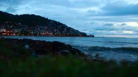 Lever de soleil, la Mer Noire, ordu ville en juin 2016, Turquie banque de vidéos