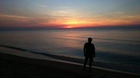 Lever de soleil la station balnéaire Photo libre de droits