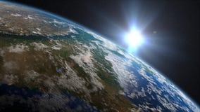 Lever de soleil de la terre au-dessus d'Inde illustration libre de droits