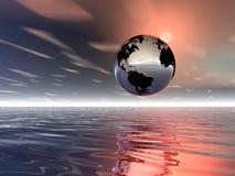 Lever de soleil. La terre de planète Images libres de droits