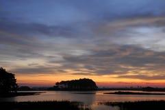 lever de soleil la Virginie de chincoteague Image stock