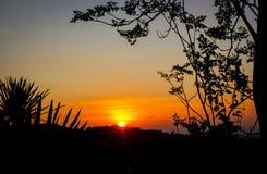 Lever de soleil le matin image libre de droits