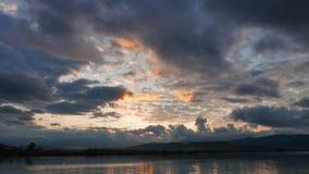 Lever de soleil méditerranéen coloré en automne 04 banque de vidéos