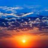 Lever de soleil majestueux Images libres de droits