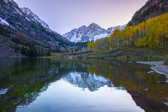 Lever de soleil marron Aspen Colorado de Bells Photographie stock libre de droits