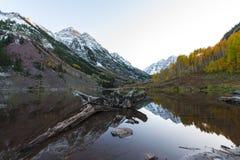 Lever de soleil marron Aspen Colorado de Bells Image stock