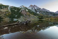 Lever de soleil marron Aspen Colorado de Bells Image stock