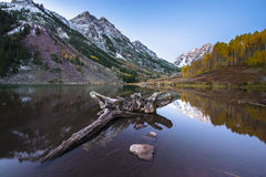Lever de soleil marron Aspen Colorado de Bells Photographie stock