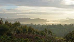 Lever de soleil, montagnes de Konso, Ethiopie, Afrique Photos libres de droits