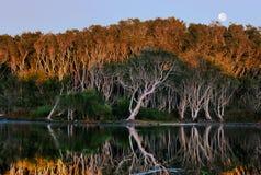 Lever de soleil Moonset Images stock