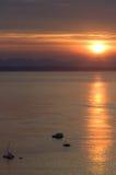 lever de soleil mosselbay Photographie stock libre de droits