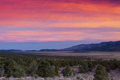 Lever de soleil Nevada de Sweetwater Photos libres de droits