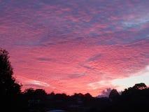 Lever de soleil nuageux de matin image libre de droits