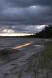 Lever de soleil orageux Image libre de droits
