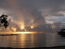 Lever de soleil orageux 2 photos libres de droits