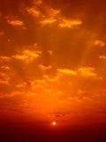Lever de soleil oriental Images stock