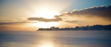 Lever de soleil ou coucher du soleil Image stock