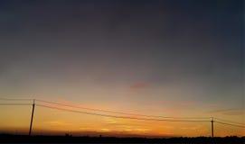 Lever de soleil ou coucher du soleil de vecteur illustration de vecteur