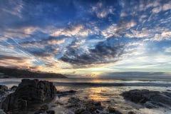 Lever de soleil de péninsule de Gower Images stock