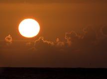 Lever de soleil Pacifique en Hawaï Image libre de droits