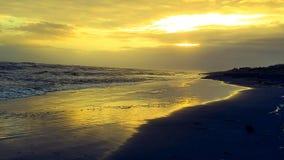 Lever de soleil par la baie Photos libres de droits