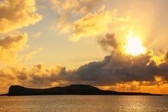 Lever de soleil parc national d'Espanola à île, Galapagos, Equateur Images libres de droits