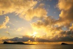 Lever de soleil parc national d'Espanola à île, Galapagos, Equateur Image stock