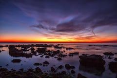 Lever de soleil passionnant de mer Image stock