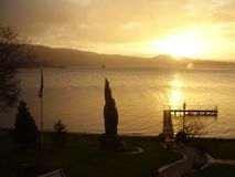 Lever de soleil de paysage de l'Ecosse au lac 2 Photographie stock