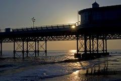 Lever de soleil, pilier de Cromer photographie stock libre de droits