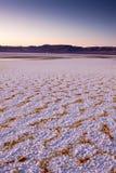 Lever de soleil plat de sel Image libre de droits