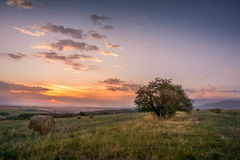 Lever de soleil près de Sofia Image stock