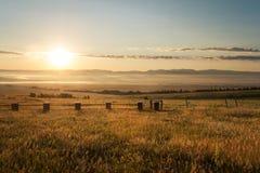 Lever de soleil près de Westcliffe, le Colorado Images libres de droits