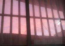 Lever de soleil pris de la fenêtre photographie stock