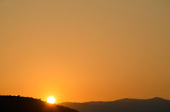 Lever de soleil, Pushkar, Rajashtan, Inde Images libres de droits