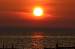 Lever de soleil réfléchi Photographie stock
