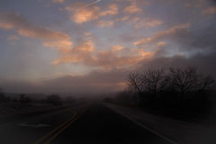 Lever de soleil rêveur Photographie stock