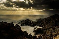 Lever de soleil ralenti photographie stock libre de droits