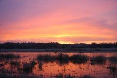 Lever de soleil Ridgefield 1 Images libres de droits