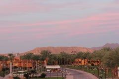 Lever de soleil rose en Egypte Image libre de droits