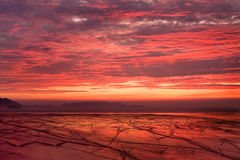 Lever de soleil rouge Photographie stock libre de droits