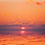 Lever de soleil rouge Image stock
