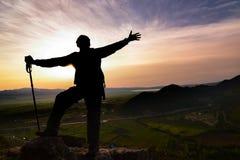 Lever de soleil spectaculaire, succès maximal et début énergique du jour photo libre de droits