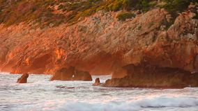 """Lever de soleil sur """"la plage des rotations de Las dans Denia banque de vidéos"""