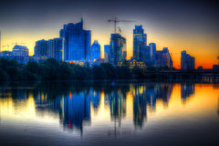 Lever de soleil sur Austin Texas Photo libre de droits