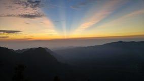 Lever de soleil sur Bromo Image stock