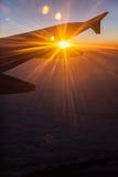 Lever de soleil sur des avions Photo stock